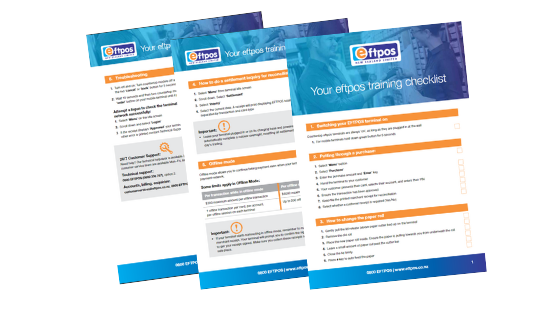 Download our EFTPOS Training Checklist