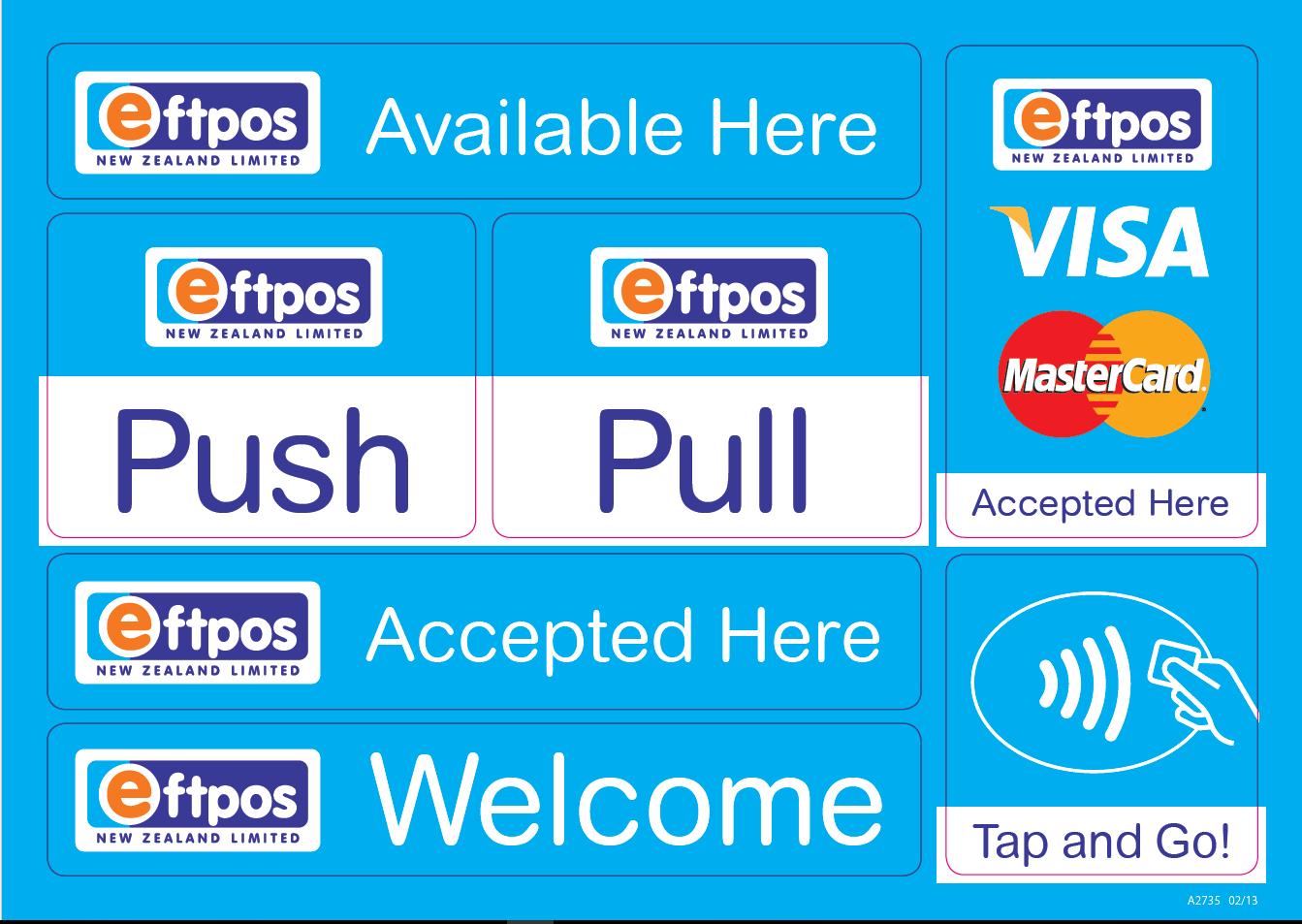 Eftpos NZ Sticker sheet